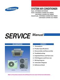 samsung cac 4 way cassette service manual air conditioning
