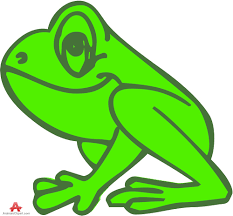 outline colored frog clipart free clipart design download
