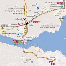 Jet Blue Route Map Routes And Times Halbeath Park U0026 Ride