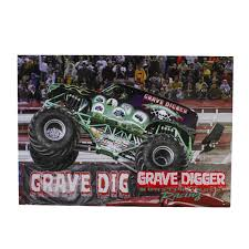 grave digger monster truck poster digger 20th anniversary postcard