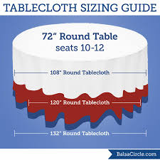 tablecloth for 72 round table for 72 round tables use 108 round tablecloths for 18 drop 120