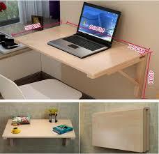wall mount laptop desk 80 50cm wall mounted laptop desk solid wood folding office desk