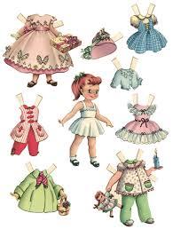 printable paper dolls poupee papier dolls printable paper and 1950s