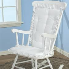 White Rocking Chair Nursery White Eyelet Rocking Chair Cushion Nursery Gliders Luxurylamb