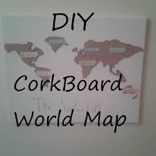 World Map Cork Board by Diy Corkboard World Map Youtube
