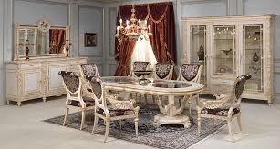 gold dining table set dining room of the white and gold collection realised in louis xvi