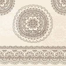 vector collection of doodle style flowers or mandalas royalty free