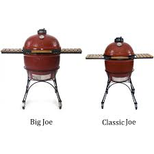 kamado joe classic ceramic grill with stainless bands black
