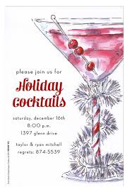 Cocktail Party Invitation Card Holiday Cocktail Party Invitations Cimvitation