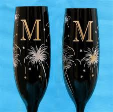 personalized glasses wedding 2 new years wedding chagne glasses personalized and or
