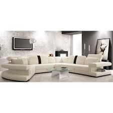 achat canapé cuir canapé cuir panoramique arrondi blanc et noir achat vente