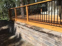 cedar deck and retaining wall