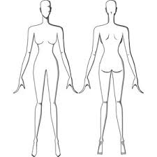 female figure drawing templates front and back polyvore