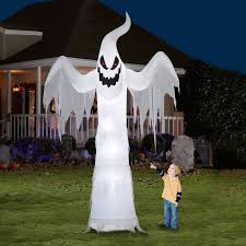 halloween yard decorations giant ghost halloween yard decoration airblown inflatable decor 12