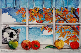 cat curiuos window tiles backsplash italian tile mural store cat curiuos window tiles backsplash