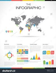 Eros Map Set Infographic Elements World Map Information Stock Vector