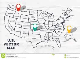 Image Of United States Map by Outline Map Of United States Stock Vector Image 52021795