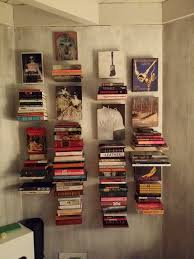 interior floating bookshelves for wall decorating idea