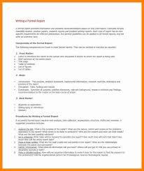 doc 585700 formal report template u2013 sample formal report 10
