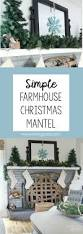 simple farmhouse christmas mantel noting grace