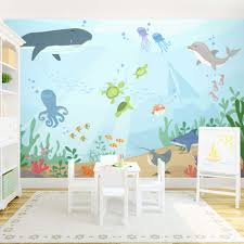 the cutest wall mural for a nursery or kids rooms under the ocean the cutest wall mural