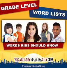 grade level lists vocabularyspellingcity