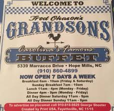 Buffet Near My Location by Fred Chason U0027s Grandsons Buffet Hope Mills Menu Prices