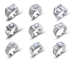 man silver rings images Simple sterling silver wedding engagement diamond ring for man png