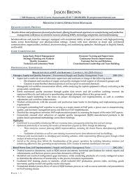 Manufacturing Manager Resume Samples by Operations Resume Examples Resume Professional Writers