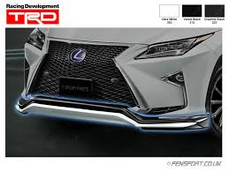 lexus genuine parts uk fensport parts lexus rx rx f sport trd front spoiler