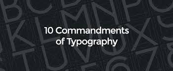 ten resume writing commandments 10 commandments of typography creative market