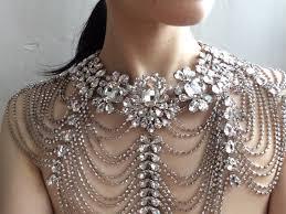 rhinestone necklace wedding images Love olivia swarovski rhinestones crystals and pearls wedding jpg