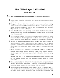 gilded age questions worksheet history