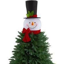 amazon com 18 in snowman head with hat christmas tree topper
