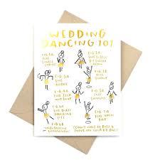 funny gold foil wedding card u2013 wedding dancing 101 u2013 pinwheel