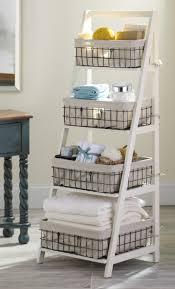 cream wood u0026 metal ladder shelf shelves originals and storage