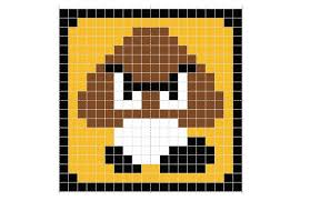 super mario bros beverage coasters perler beads 6 steps