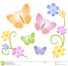 butterfly flowers butterfly on flower clipart clipartxtras