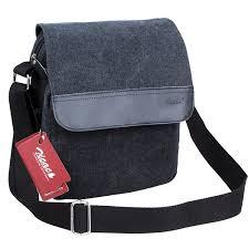 Men S Office Colors by Zicac Mens Canvas Messenger Shoulder Bag Handbags Black And Brown