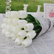2017 tulip flower for wedding centerpiece decorative artificial