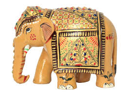 buy hand painted elephant showpiece animal figurines home