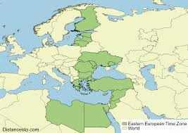 East Europe Map by Eet Eest Eastern European Time Zone
