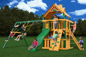 Gorilla Playsets Catalina Wooden Swing Set Outdoors Amazing Gorilla Playset For Cool Kids Playground Ideas