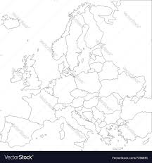 Blank Map Of Eurasia by Blank Outline Map Of Europe Royalty Free Vector Image