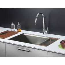 rv kitchen faucet ruvati rvf1221ch single handle pull kitchen faucet polished