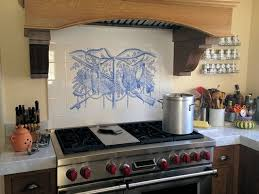 kitchen tile murals backsplash trophy sport fishing azulejo delft blue backsplash tile