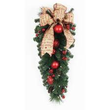 led swag wreaths garland the home depot