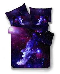 Galaxy Bed Set Nattey 3 Pieces Duvet Cover Set Galaxy Bedding Set Size
