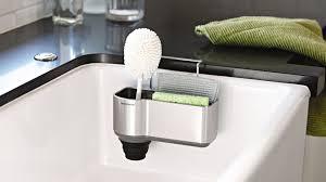 space saving sinks kitchen simplehuman sink caddies organize your sink area