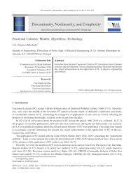 fractional calculus models algorithms technology pdf download
